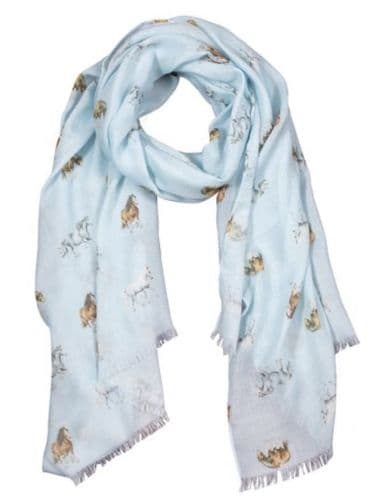 'Feather and Forelocks' Scarf