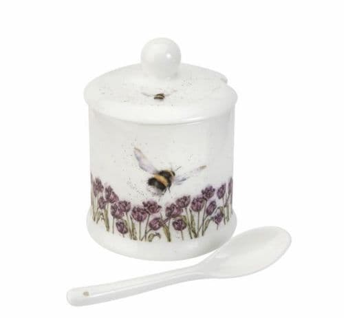 'Flight of the Bumblebee' Conserve Pot and Spoon