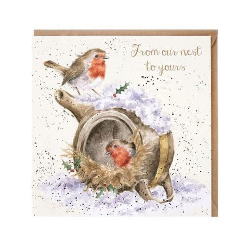 'From our nest to yours' Christmas Card - X060