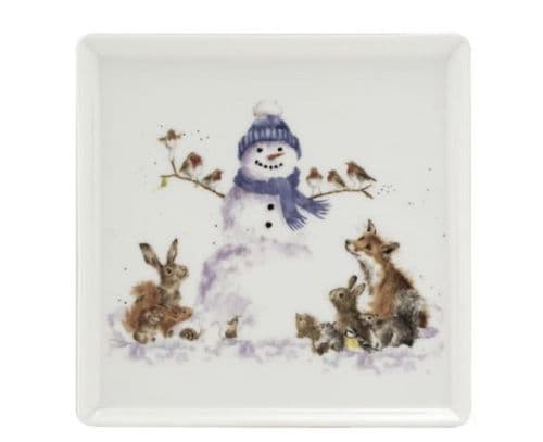 'Gathered all Around' Square Plate