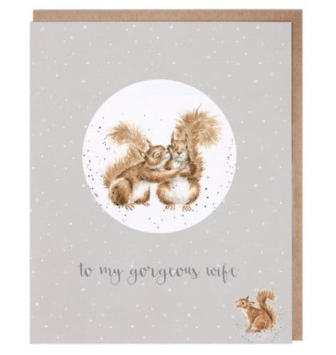 'Gorgeous Wife' Single Christmas Decoration Card - CDR007