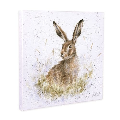 'Into the Wild' Hare Canvas