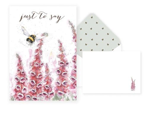 'Just to Say' Cottage Garden Notelet Set