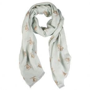 'Leaping Hare' Green Scarf