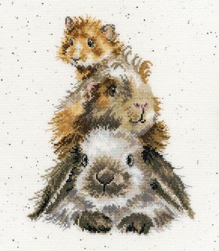 'Piggy in the Middle' Cross Stitch Kit - XHD65