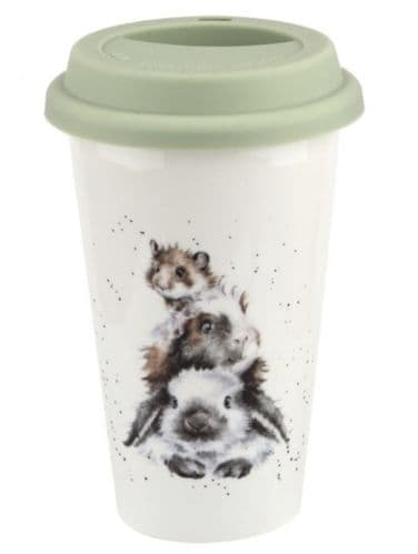 'Piggy in the Middle' Travel Mug