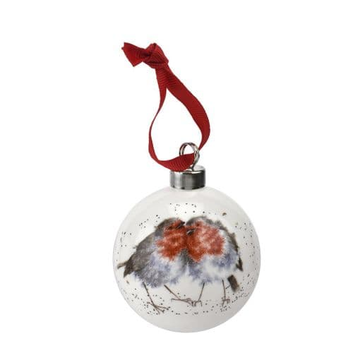 'Snuggled Up Together' Christmas Bauble