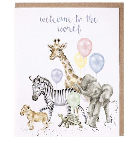 'Welcome to the World' New Baby Card - OC113
