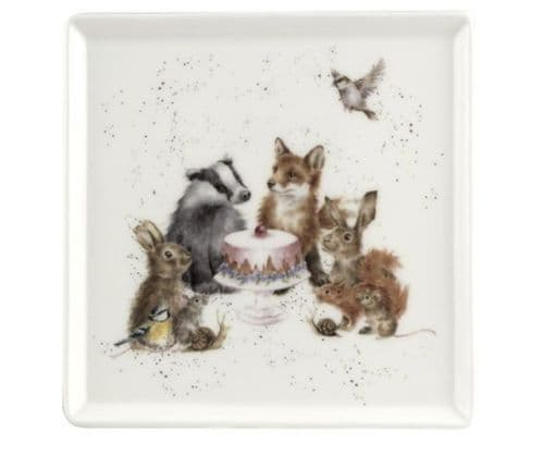 'Woodland Party' Square Plate