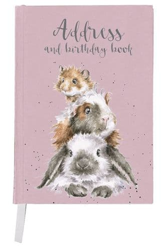 Address & Birthday Book 'Piggy in the Middle' - AB003