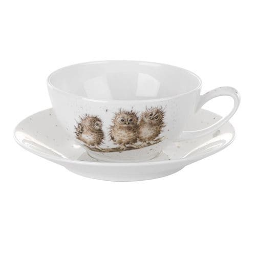 Cappuccino Cup and Saucer Owl