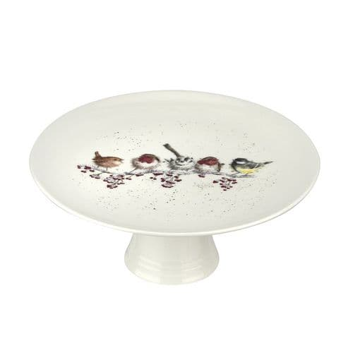 Christmas One Snowy Day Footed Cake Stand