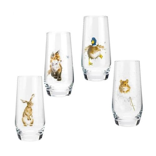 Hi-Ball Glasses Country Animals Set of 4