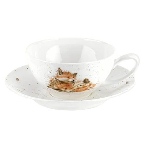 Large Cup and Saucer Fox