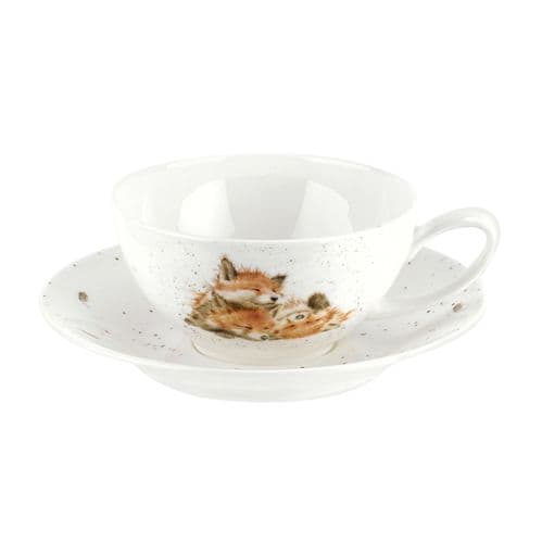 Large Foxes Cup & Saucer