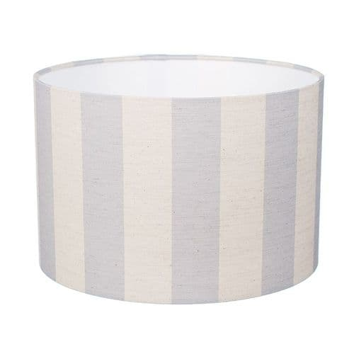 Large' Skylarks Song' Striped Lampshade