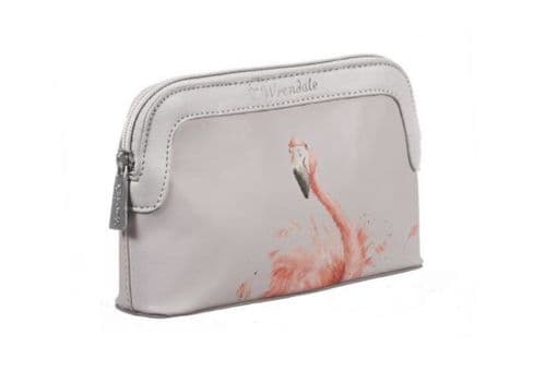 Small 'Pink Lady' Flamingo Cosmetic Bag