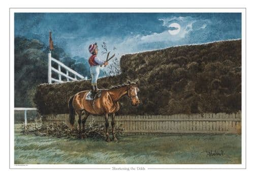 Thelwell 'Shortening The Odds' Greeting Card
