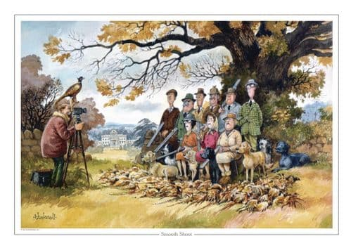 Thelwell 'Smooth Shoot' Greeting Card