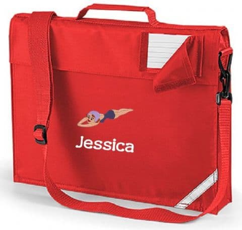 Personalised DIVING IN SWIMMING School Book Bag