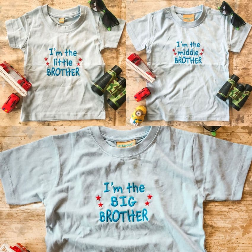I'm The Little, Middle, Big Brother Slogan T-shirt