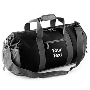 Personalised Athleisure Barrel Kit Bag