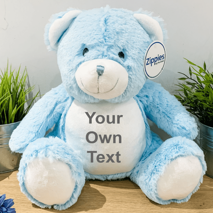 Personalised Baby Blue Bear