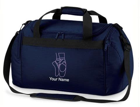 Personalised Ballet Shoes Bag Dance Mini Holdall