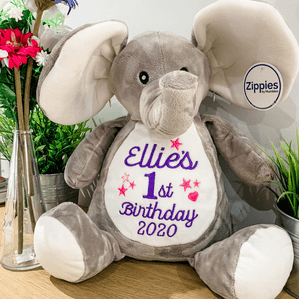 Personalised Birthday Elephant Teddy