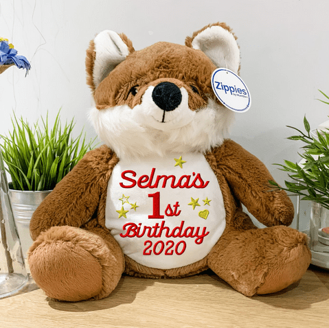 Personalised Birthday Fox Teddy