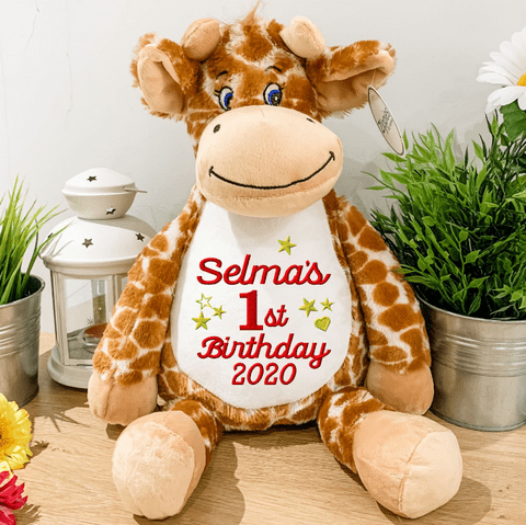 Personalised Birthday Giraffe Teddy