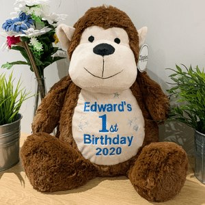 Personalised Birthday Monkey Teddy