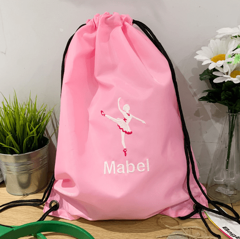 Personalised Drawstring Bag - Ballet Dancer