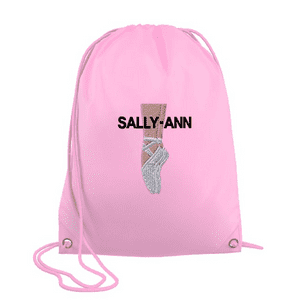 Personalised Drawstring Bag - Ballet Shoes