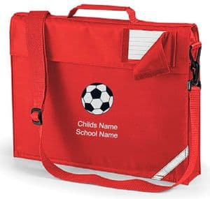 Personalised FOOTBALL School Book Bag with Name
