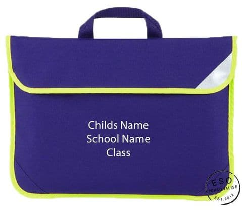 Personalised Hi-Viz Enhanced-Viz School Book Bag