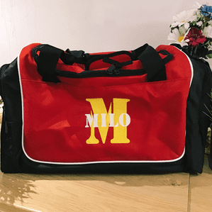 Personalised Holdall Bag - Initial letter and name
