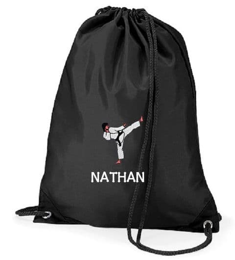 Personalised KARATE Drawstring PE Swim Bag