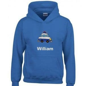 Personalised Kid's Police Car Hoodie
