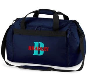 Personalised Mini Holdall Bag - Initial letter and name