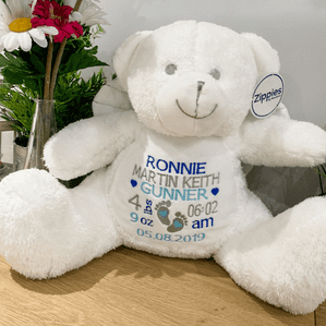 Personalised New Baby Angel Teddy