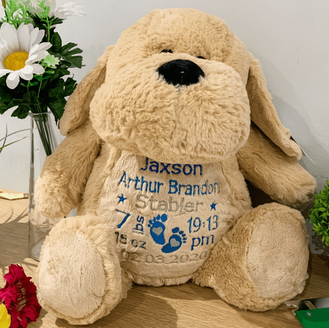 Personalised New Baby Dog Teddy
