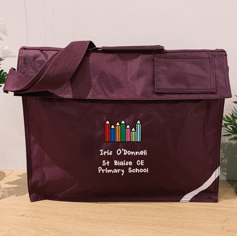 Personalised School Book Bag - Coloured Pencils