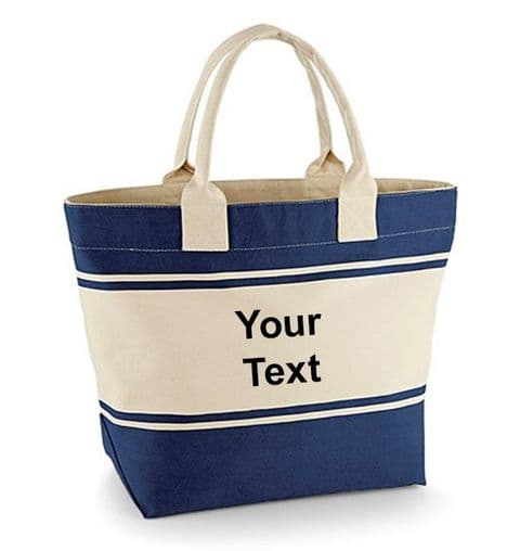 Personalised Shopping Tote Canvas Deck Bag