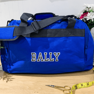 Personalised Varsity Mini Holdall Bag