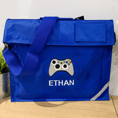 Personalised XBOX Controller Gamer School Book Bag