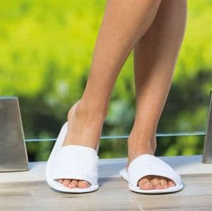 Terry slippers (open toe)