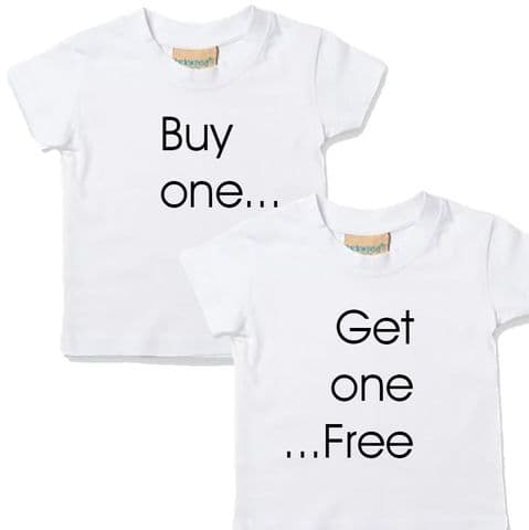 TWINS T-SHIRTS - Buy One Get One Free Slogan Set