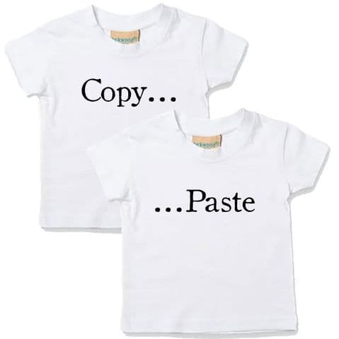 TWINS T-SHIRTS - Copy Paste Slogan Set