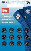 341164 Snap Fasteners - Bx 5